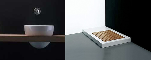 Luxe Badkamerspecialist ~ Een houten werkblad in de badkamer voor onder uw waskom
